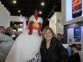 Monica con el Gallo