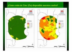 Mapa Deficiencia de Zinc. INTA Balcarce