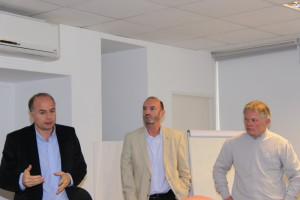 Jorge Bassi, Victor Acastello y Cristian Hanel