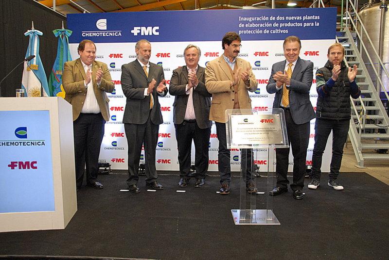 Chemotecnica y FMC inauguraron dos plantas de elaboración de productos
