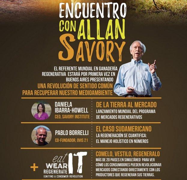 4 noviembre: Encuentro con ALLAN SAVORY en La Rural