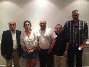 De izq a der.:Salaverri, Gonzalez SanJuan, Grasa, Melo y Lafuente.