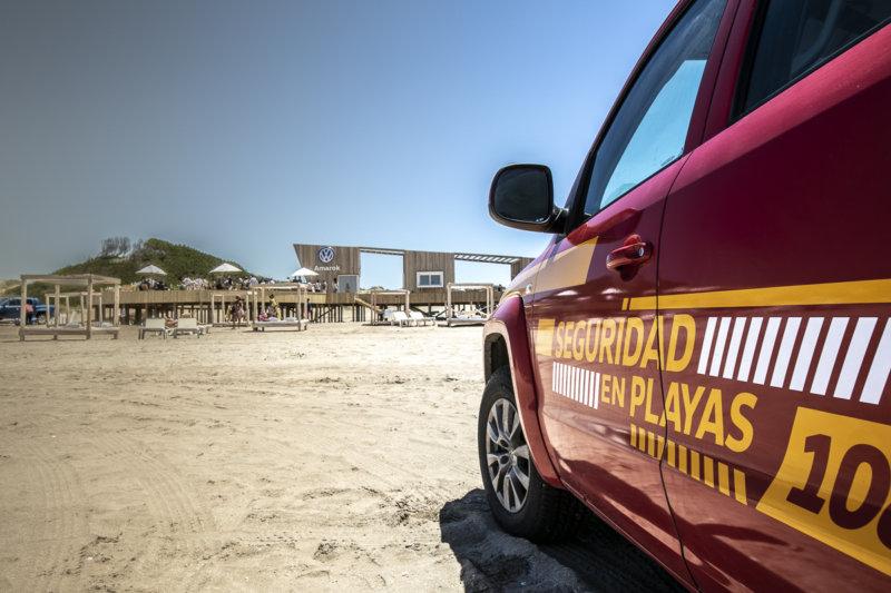 Amarok es el vehículo oficial de Seguridad de Playa