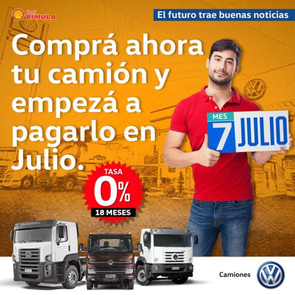 """VW Camiones y Buses lanza """"Comprá ahora y Pagá en Julio"""""""