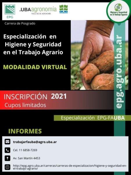 Posgrado en Higiene y Seguridad en el Trabajo Agrario